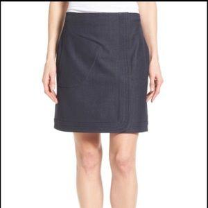 Halogen size 16 denim stretch mini skirt